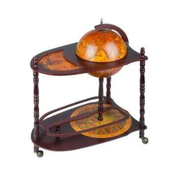 Design Toscano Old World Extended Shelf Italian Replica Globe Bar Cart