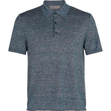 Icebreaker Men Flaxen SS Polo Shirt - Medium - Serene Blue