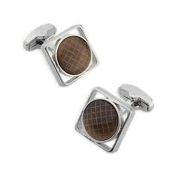 Egara Brown & Silver Cufflinks