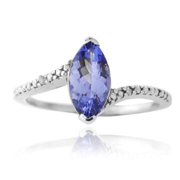 Glitzy Rocks Sterling Silver Blue Tanzanite and Diamond Ring (8)