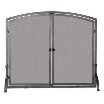 Uniflame S-1146 Single Panel Olde World Iron Screen With Doors, Medium
