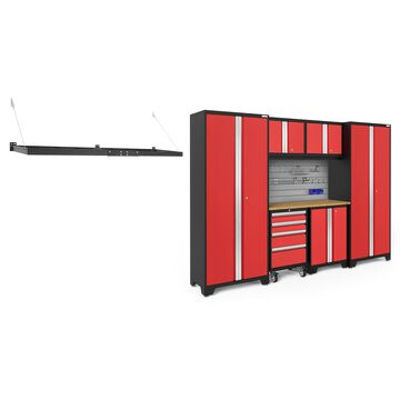 NewAge Products Bold Series 3.0 Red 8 Piece Cabinet Set with Accessory Kit