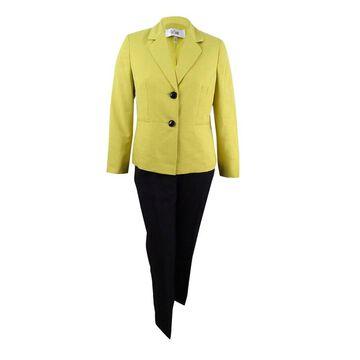 Le Suit Women's Colorblocked Pantsuit - Golden/Black
