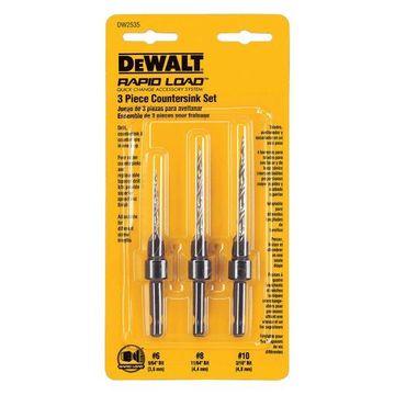Dewalt DW2535 3 Piece Drill Countersink Set