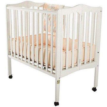 Dream On Me Lightweight 2-in-1 Folding Portable Mini Crib, White