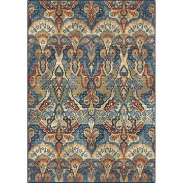Orian Rugs Bohemian Granby 9 x 13 White Indoor Floral/Botanical Bohemian/Eclectic Area Rug in Off-White