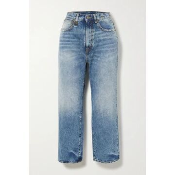 R13 - Royer Cropped High-rise Wide-leg Jeans - Light denim