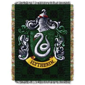 Warner Brothers Harry Potter Slytherin Shield Triple Woven Tapestry Throw