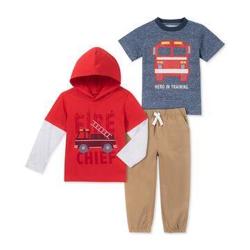 Baby Boys 3-Pc. Printed T-Shirts & Jogger Pants Set