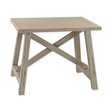 Sterling Industries Driftwood Accent Table in Grey