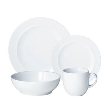 White by Denby 4-Piece Place Setting