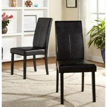 Simple Living Bettega Parson Chair (Set of 2) (Black)