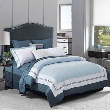 Superior Meridian 300 Thread Count Cotton Embroidered Duvet Cover Set