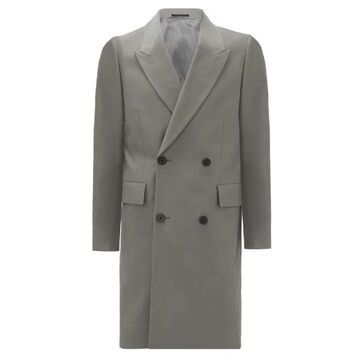 The Row - Mickey Double-breasted Cotton Coat - Mens - Grey