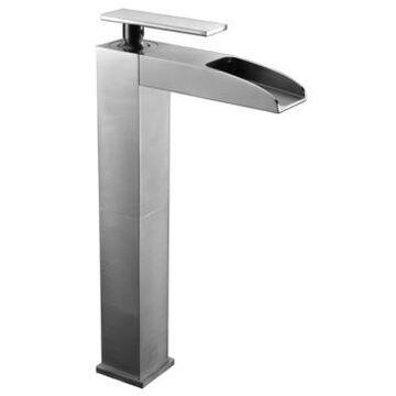 Alfi brand Brushed Nickel Single Hole Tall Waterfall Bathroom Faucet Bedding