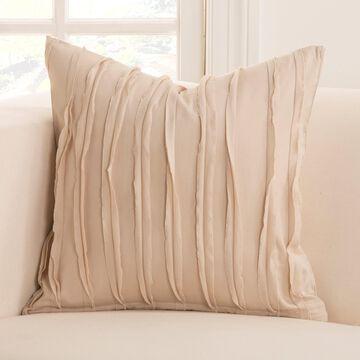 Siscovers Tattered Cotton Designer Throw Pillow