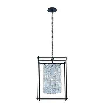 Allegri 036150052FR001 Four Light Foyer Pendant Joni Matte Black - One Size (One Size - Clear)