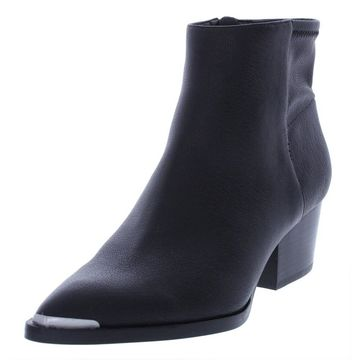 Calvin Klein Jeans Womens Narice Ankle Boots Textured Stacked Heel