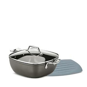 All-clad Essentials Non-Stick 5 Qt. Simmer & Stew Square Pan with Trivet