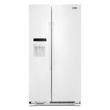 Maytag 24.5-cu ft Side-by-Side Refrigerator with Ice Maker (White)