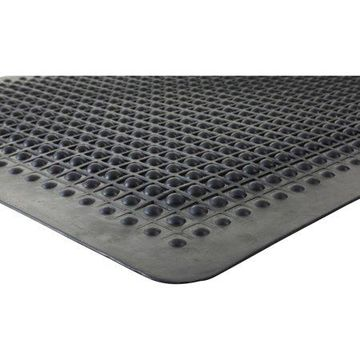 Genuine Joe, Flex Step Rubber Anti-Fatigue Mats, 1 / Each, Black