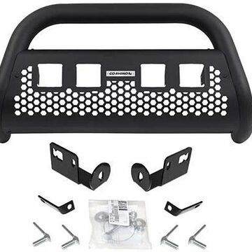 2014 Ram 1500 Go Rhino RC2 LR Bull Bar, Without Lights in Black, With cutouts for 4 light cubes