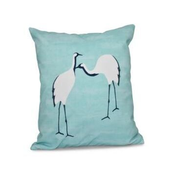 Stilts 16 Inch Blue Decorative Coastal Throw Pillow