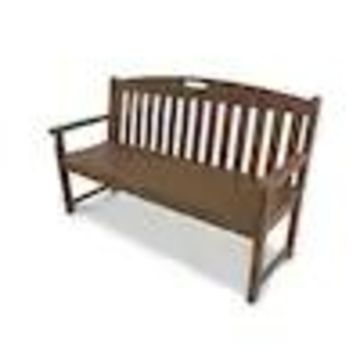 Trex Outdoor Furniture Yacht Club 59.5-in W x 24.25-in L Tree House Plastic Patio Bench