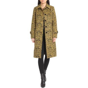 Avec Les Filles Single-Breasted Leopard Coat