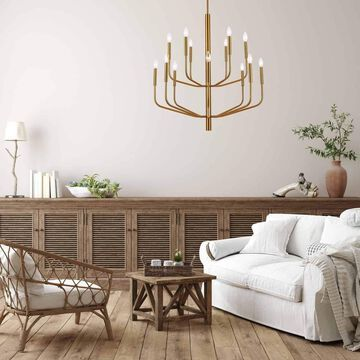 Eleanor 14 Light Contemporary Aged Brass Luxury Lantern Chandelier