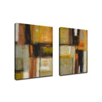 Ready2HangArt, 'Down to Earth I/Ii' 2 Piece Abstract Canvas Wall Art Set, 30x20