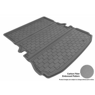 3D MAXpider 2011-2016 Ford Explorer All Weather Cargo Liner in Gray with Carbon Fiber Look
