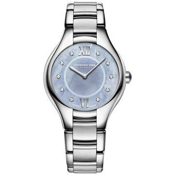 Women's Swiss Noemia Diamond-Accent Stainless Steel Bracelet Watch 32mm