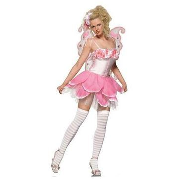 2Pc Rose Fairy Sexy Holiday Party Halloween Costume
