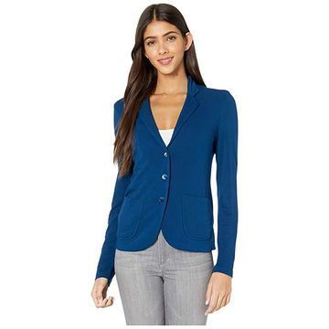 Majestic Filatures French Terry Three-Button Blazer (Notte) Women's Clothing