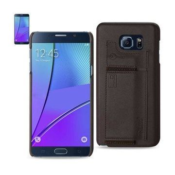 Samsung Galaxy Note 5 Rfid Genuine Leather Case Protection And Key Holder In Umber