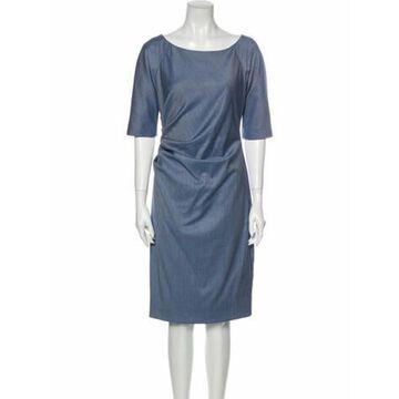 Wool Knee-Length Dress Rose