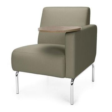 OFM Triumph Series Model 3001LT Polyurethane Modular Left Arm Lounge Chair with Bronze Tablet, Taupe