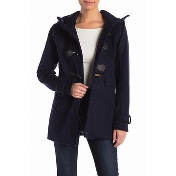 Pendleton Women's Navy Toggle Blue Size Small S Funnel Collar Coat
