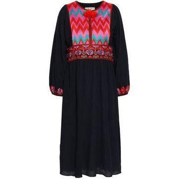 Figue Embroidered Cotton-gauze Dress