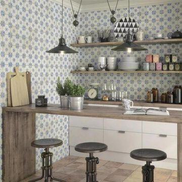 SomerTile 13x13-inch Aragon Azul Ceramic Floor and Wall Tile (10 tiles/12.2 sqft.)