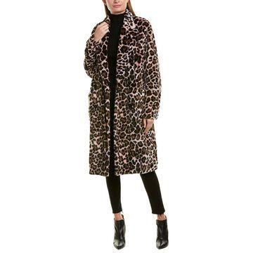 The Kooples Womens Fuzzy Coat