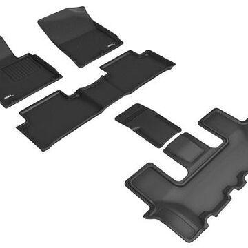 3D Maxpider Kagu Floor Mats, Floor Mat Set - KAGU Floor Mat - Front, Rear and Third Row - PN L1KA05801509 in Black