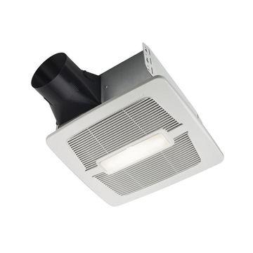 Broan InVent 2-Sone 80-CFM Polymeric White Bathroom Fan