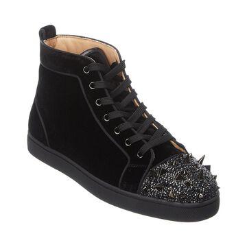 Christian Louboutin Lou Pik Pik Velvet Sneaker