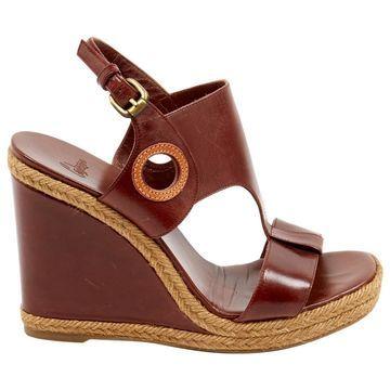 Castaner Brown Leather Sandals