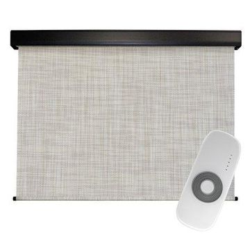 Keystone Fabrics Premier 6' x 8' Motorized Outdoor Sun Shade with Protective Valance and Remote, Larkspur