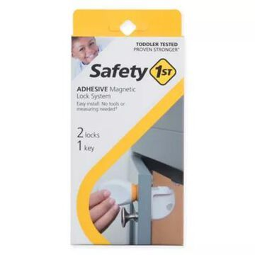 Safety 1st 2-Pack Adhesive Magnetic Locks with Key