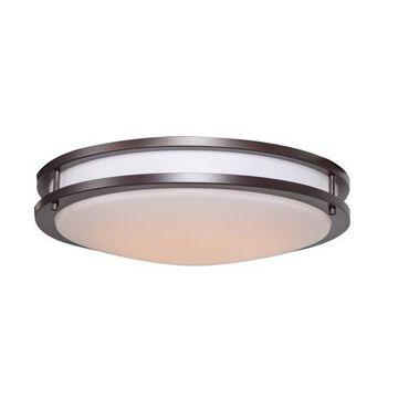 20466LEDD-BRZ-ACR 18 in . Solero LED Bronze Flush Mount Ceiling Light