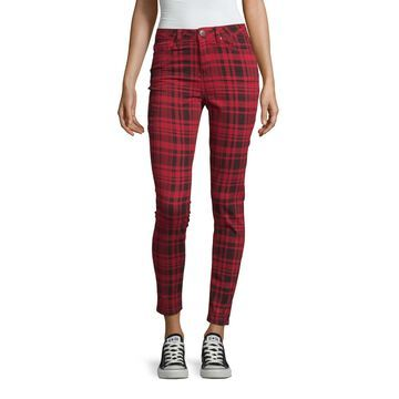 Ymi Womens High Waisted Skinny Fit Ankle Pant-Juniors